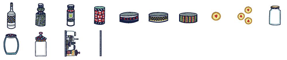 ジャノメ ハイパークラフト850 内蔵模様 パントリーデザイン 14種類