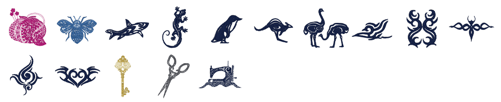 ジャノメ ハイパークラフト850 内蔵模様 モノクロデザイン 15種類