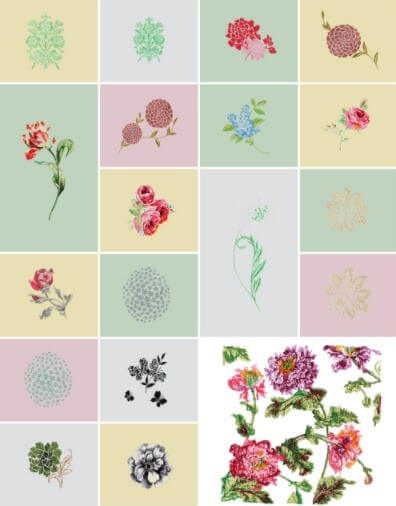 ブラザー ソレイユLA 内蔵模様 ローラアシュレイデザイン 19種類